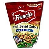 Durkee / French's - Fried Onions - The Original Rings - 24 Ounces (Pack of 6 Reclosable Bags)