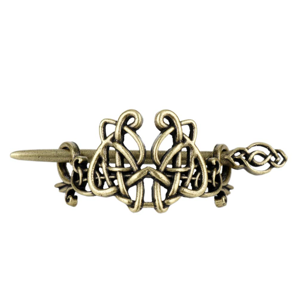 2x Metall Antike Wikinger Mittelalterliche Haarspangen Haarnadel Hochsteckfrisur