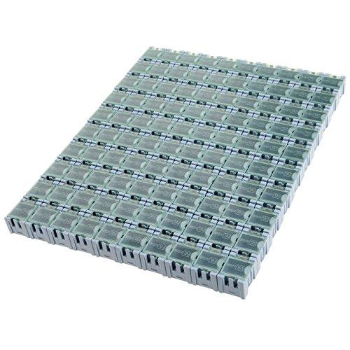 100PCS Electronic Component Parts Case Patch Laboratory Storage Box SMT SMD - Blue by MUXSAM