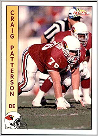 1992 Pacific #572 Craig Patterson RC PHOENIX ARIZONA CARDINALS
