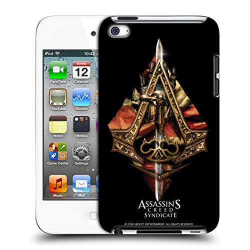 Official Assassin's Creed Weapons and Flag Syndicate Logo Art Hard Back Case Compatible for Apple iPod Touch 4G 4th - Art Wfl