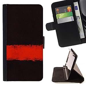For Samsung Galaxy S6 Active G890A Case , Profundo Significado Oscuro Negro Limpiar minimalista- la tarjeta de Crédito Slots PU Funda de cuero Monedero caso cubierta de piel