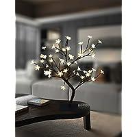 Lightshare 18 Inch Cherry Blossom Bonsai Tree, 48 LED...