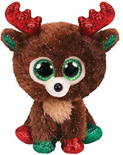 Amazon.com: Ty- Beanie Boos-Fudge The Reindeer TY36684 ...