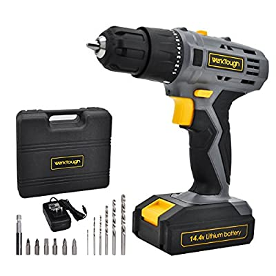 Werktough D018 Cordless Drill Driver 2 viable speed Powerful Screwdriver and Lion Battery