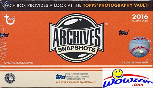 - 2016 Topps Archives Snapshots Baseball EXCLUSIVE Factory Sealed HOBBY Box with AUTOGRAPH Parallel! Look for Autographs of Kris Bryant, Ken Griffey, Bryce Harper, David Ortiz, Cal Ripken & Many More!
