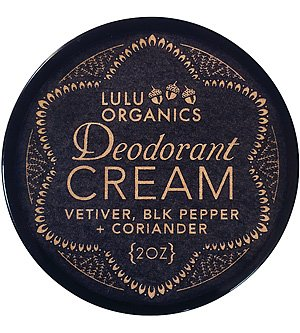 Deodorant Cream Vetiver, Black Pepper & Coriander 2 oz by Lulu Organics (Pepper Cream)