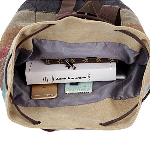 Fortunings JDS® Retro Multicolor-Streifen-Rucksack Umhängetasche