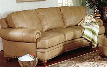 Remarkable Shasta Nailhead 100 Top Grain Italian Leather 3 Seat Sofa Couch Pabps2019 Chair Design Images Pabps2019Com