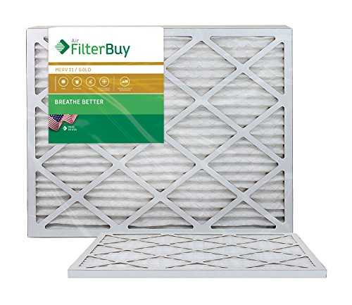 AFB Gold MERV 11 20x24x1 Pleated AC Furnace Air Filter. Pack of 2 Filters. 100% produced in the USA.