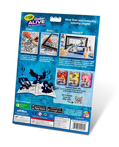 amazoncom crayola color alive action coloring pages skylanders toys games