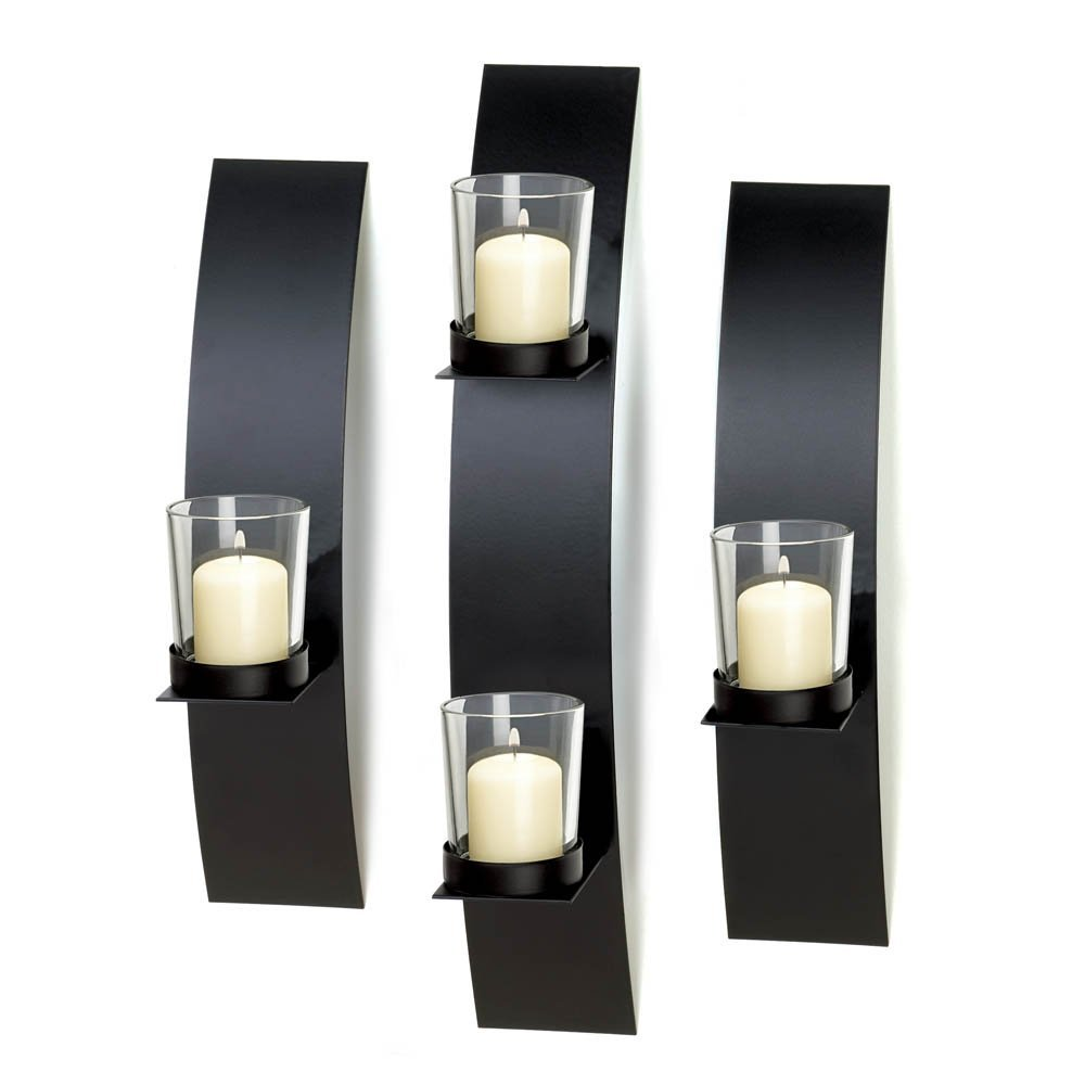Sconce Candle, Indoor Decorative Modern Wall Sconce Candle Decor Set (Sold by Case, Pack of 8)