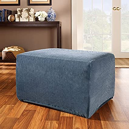 bath stretch damask sure fit slipcover from bed ottoman buy sage beyond jacquard in