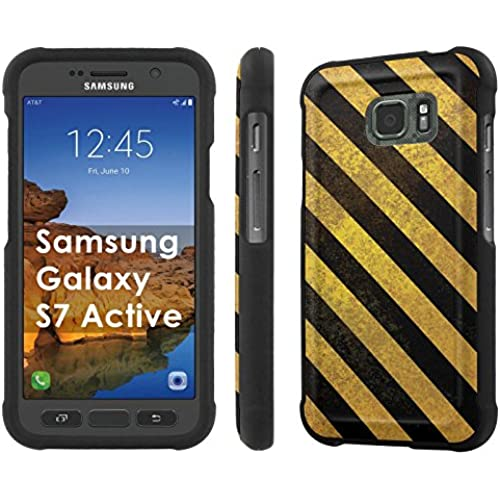 AT&T [Galaxy S7 Active] [5.1 Screen] Armor Case [NakedShield] [Black] Total Armor Protection [Shell Snap] + [Screen Protector] Phone Case - [Insdustrial Stripes] for Sales