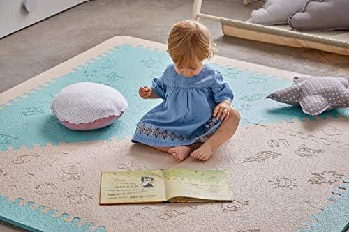 LuBabymats Alfombra puzzle infantil para bebés de Foam