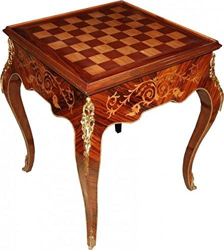 casa padrino art deco spieltisch schach backgammon tisch mahagoni braun intarsien l 60 x b 60. Black Bedroom Furniture Sets. Home Design Ideas