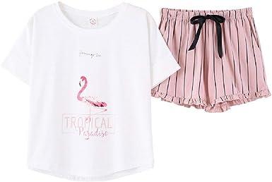Mujer Conjunto De Pijama Verano Elegantes Moda Impreso ...