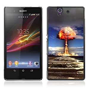 Designer Depo Hard Protection Case for Sony Xperia Z L36H / Bomb Explosion