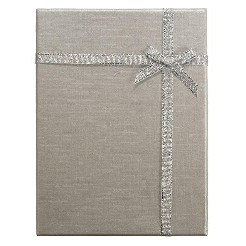 SOLMORE Bowknot geschenkschachtel Geschenkbox schmuck verpackung geschenk Silber