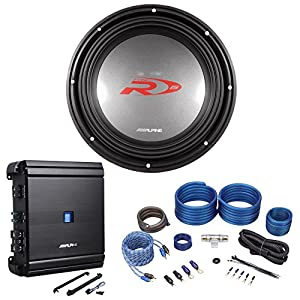 "Alpine SWR-1542D 15"" 2000W Competition Subwoofer+Alpine Mono Amplifier+Amp Kit"