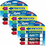 Expo Low Odor Dry Erase Markers, Chisel Tip, Assorted Colors, Pack of 15