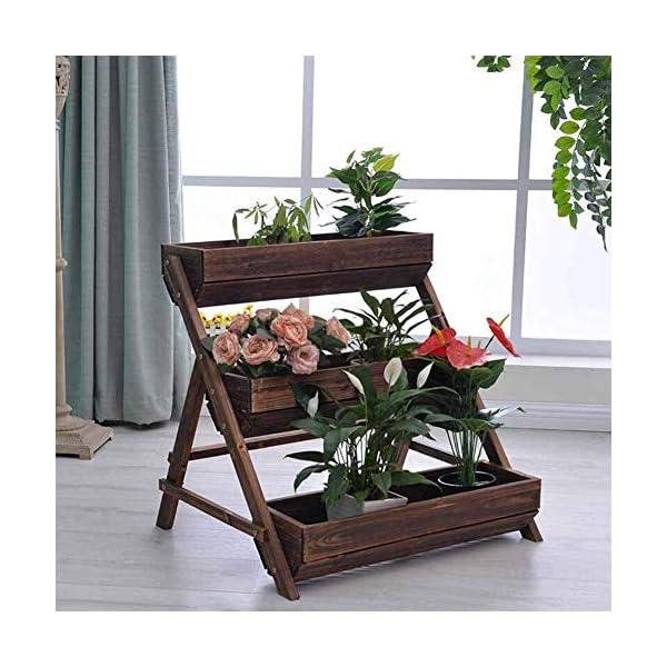 HEMFV 3 Tier Giardino alzato for Verdure in Legno sopraelevata Planter Box di Legno Naturale for Outdoor Patio Yard… 3 spesavip