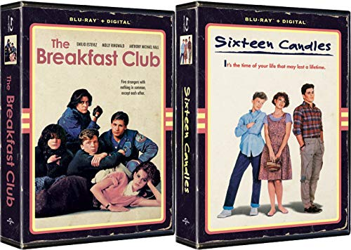 Retro Blu-ray Exclusive VHS Clamshell Case John Hughes Collection Sixteen Candles & The Breakfast Club 2-Movie Bundle