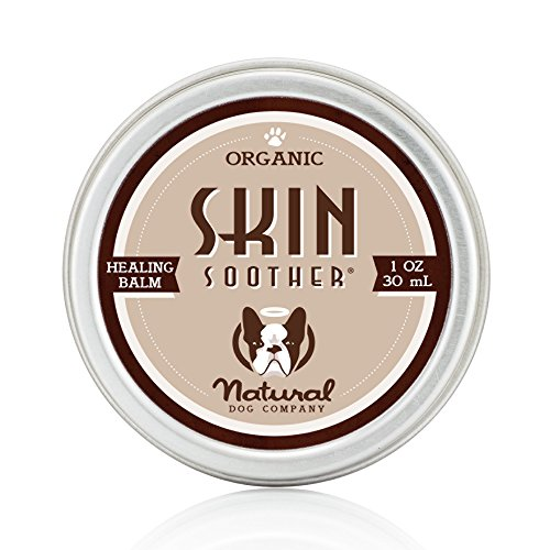 Natural Dog Company - Skin Soother | Organic, All-Natural Healing Balm - Treats Hot Spots, Bacterial Folliculitis, Dermatitis, Alopecia, Mange, Dry Flaky Skin | 1 Oz Tin