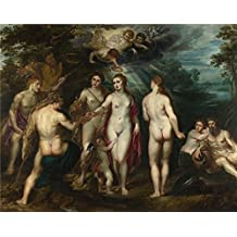 high quality polyster Canvas ,the Amazing Art Decorative Canvas Prints of oil painting 'Peter Paul Rubens The Judgement of Paris (1) ', 24 x 30 inch / 61 x 77 cm is best for Powder Room artwork and Home artwork and Gifts