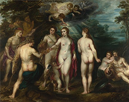 Oil Painting 'Peter Paul Rubens The Judgement Of Paris (1)', 18 x 23 inch / 46 x 58 cm , on High Definition HD canvas prints is for Gifts And Garage, Kitchen And Nursery Decoration,
