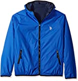 U.S. Polo Assn.. Men's Reversible Softshell to Fleece Hoodie, China Blue, XL