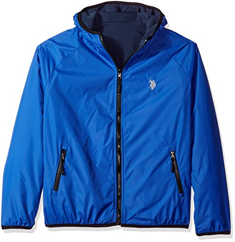 U.S. Polo Assn.. Men's Reversible Softshell to Fleece Hoodie, China Blue, XL by U.S. Polo Assn.