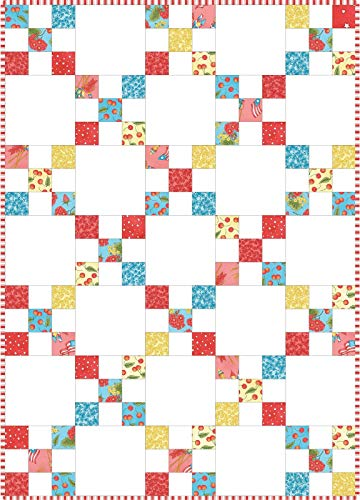 Meg Hawkey Back Porch Celebration Irish Chain Pod Quilt Kit Maywood Studio