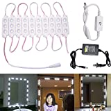 LEDMOMO 3m 5630 SMD Rope Light IP65 Waterproof Manual Control LED Strip Light with US Plug for Make-up Mirror TV Closet Lighting (Cold White Light)