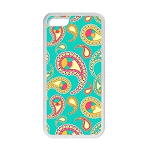 Canting_Good Paisley Floral pattern Custom Case Shell Covers for iPhone 5C TPU (Laser Technology) by lolosakes by lolosakes