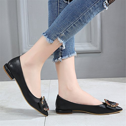 Donna Bassa Slip Nuove Pelle On Scarpe Exing Verniciata Casual Con C In Shoes Da A Punta Piatte E71fxwqF