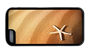 Hipster free iPhone 5C cases beach sand starfish TPU Black for Apple iPhone 5C