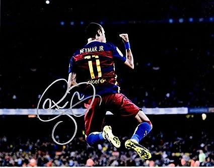 528060c26 Neymar Signed - Autographed FC Barcelona - Brazil National Team Futbol -  Soccer 11x14 inch Photo - Neymar da Silva Santos Jr. at Amazon s Sports ...