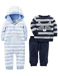 Simple Joys by Carter´s- Conjunto de pantalón, suéter, y mameluco, 3 piezas.