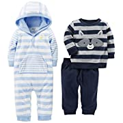 Simple Joys by Carter's Baby Boys' 3-Piece Playwear Set, Blue/Gray, 3-6 Months