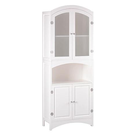 amazon com storage cabinet standing door wood bathroom storage rh amazon com Bamboo Bathroom Storage Cabinet White Cabinet Bathroom Storage