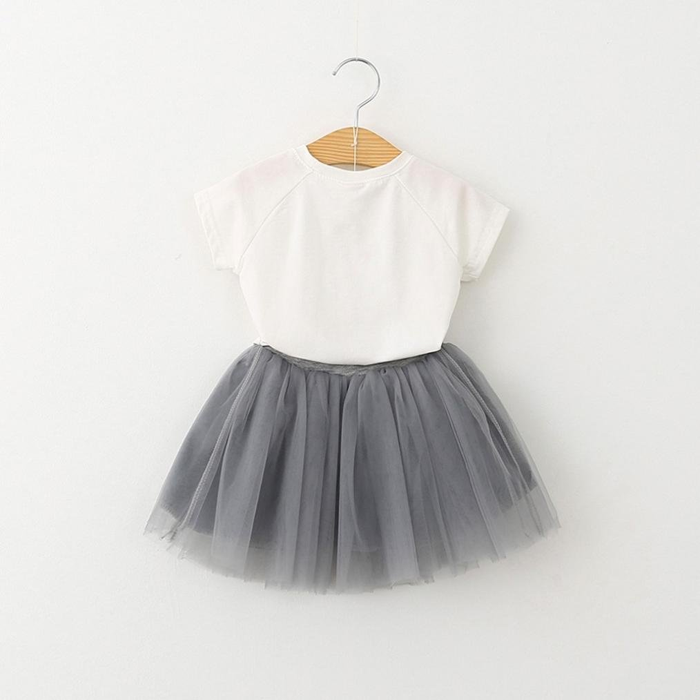 💜 Vestido de Niña, Vestido de bebé Vestido de Mariposa Vestido y Gato Camisa de Impresión Chica Bebé Precioso Vestido de Niña Verano 2018 Barato Absolute: ...