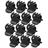 Ladies Black Plastic Mini Hairpin 6 Claws Hair Clip Clamp 12 Pcs