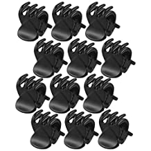 Ladies Black Plastic Mini Hairpin 6 Claws Hair Clip Clamp 12 Pcs