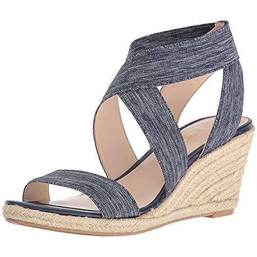 a482c568fb9c good Nine West Women s Jenafir Fabric Wedge Sandal - appleshack.com.au