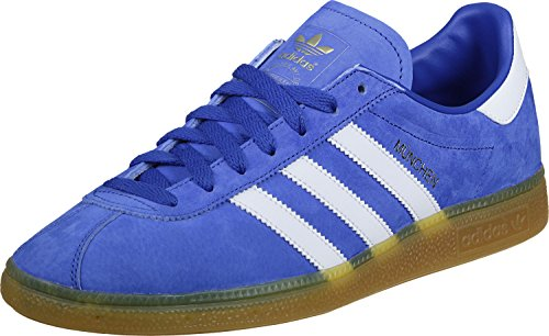 adidas Originals Munchen, collegiate burgundy-ftwr white-gum3 Blue