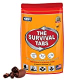 Survival Food for Pickup truck racing Survival Tabs 2-day Food Supply 24 Tabs Emergency Food Ration Survival Gluten Free and Non-GMO 25 Years Shelf Life Long Term Food Storage - Chocolate Flavor