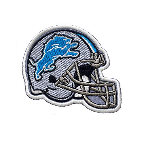 Detroit Lions Helmet. Patch Iron On. Sew On. Size 3'' x 4'' (75mm x 100mm)