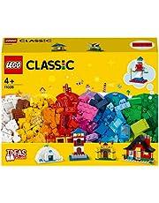 LEGO 11008 Classic Stenen en huizen Bouwset, Speelgoed voor kinderen van 4 jaar en ouder met 6 eenvoudig te bouwen modellen