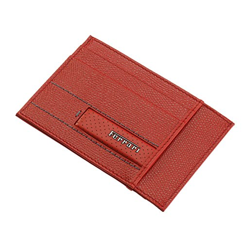 Men's Ferrari Cavallino Rampante Leather Wallet One size Dark Brown by Ferrari